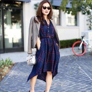 Anthropologie Plaid Homestead Tunic Dress Size M